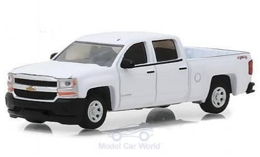 Chevrolet Silverado 1/64 Greenlight 1500 blanche 2018 miniature