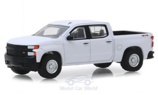 Chevrolet Silverado 1/64 Greenlight 1500 white 2019 diecast