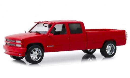 Chevrolet Silverado 1/18 Greenlight 3500 Crew Cab Custom rouge 1997 miniature