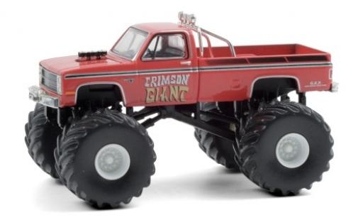Chevrolet Silverado 1/64 Greenlight Monster Truck Crimson Giant 1987 diecast model cars