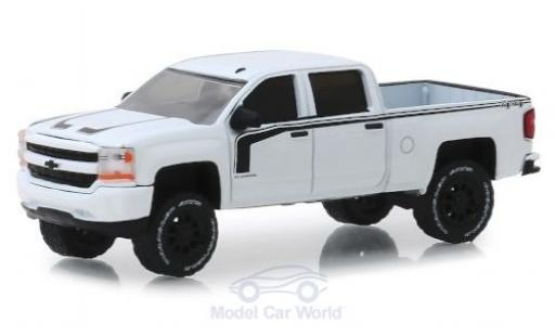 Chevrolet Silverado 1/64 Greenlight Rally 2 blanche/noire 2017 miniature