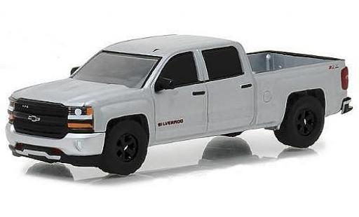 Chevrolet Silverado 1/64 Greenlight Redline Edition gris 2018 100th Anniversaire Trucks coche miniatura