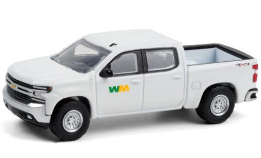Chevrolet Silverado 1/64 Greenlight WM - Waste Management 2020 diecast model cars