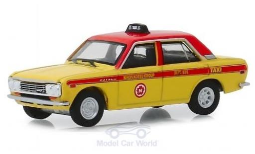 Datsun 510 1/64 Greenlight 4-Door Sedan Nihon Kotsu Group - Taxi 1970 diecast model cars
