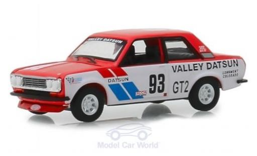 Datsun 510 1/64 Greenlight Rallye 1972 miniature