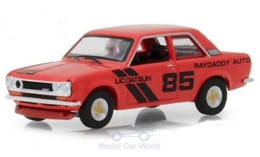 Datsun 510 1/64 Greenlight Raydaddy Auto rouge 1971 #85 miniature