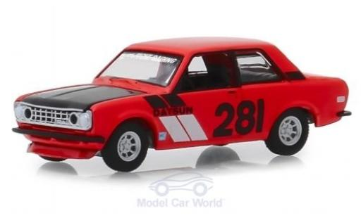 Datsun 510 1/64 Greenlight rouge 1970 miniature