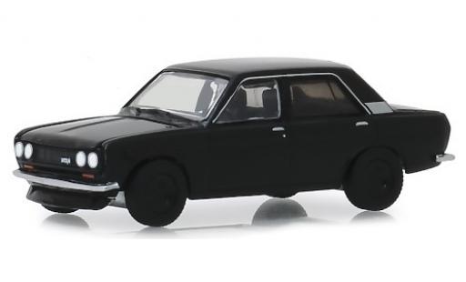 Datsun 510 1/64 Greenlight noire 1970 miniature