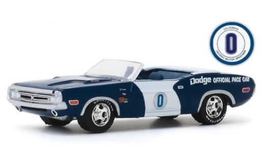 Dodge Challenger 1/64 Greenlight R/T Convertible Ontario Motor Speedway 1971 Official Pace Car diecast model cars