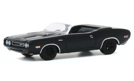 Dodge Challenger 1/64 Greenlight R/T Convertible noire/matt-noire 1970 miniature