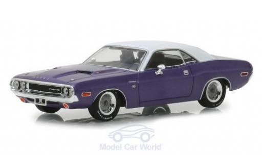 Dodge Challenger 1/43 Greenlight R/T metallic purple/white Graveyard Carz 1970 diecast