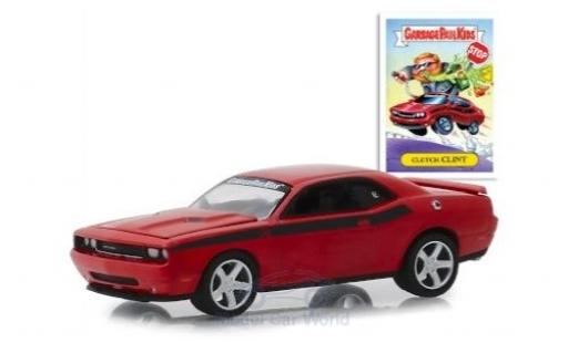 Dodge Challenger 1/64 Greenlight rouge GarbagePailKids 2012 Clutch Clint miniature