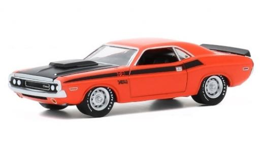 Dodge Challenger 1/64 Greenlight T/A orange/matt-noire 1970 50 Years miniature