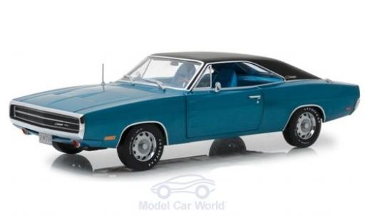 Dodge Charger 1970 1/18 Greenlight 500 metallise bleue/noire miniature