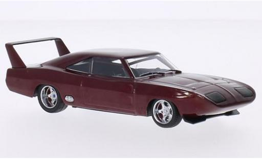 Dodge Charger 1/43 Greenlight Daytona metallise rouge 1969 rapide & Furious miniature