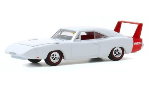 Dodge Charger 1/64 Greenlight Daytona blanche/rouge 1969 miniature