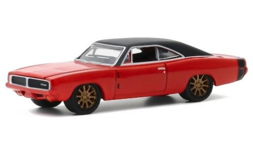 Dodge Charger 1/64 Greenlight May-Hem metallise orange/matt-noire 1969 miniature