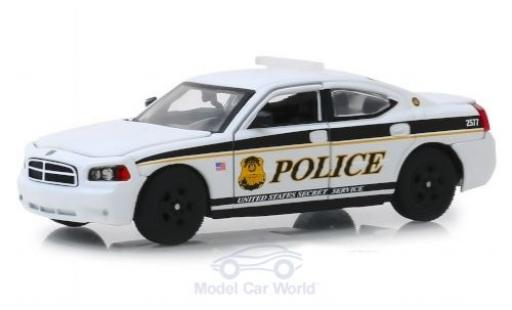 Dodge Charger 1/43 Greenlight Pursuit U.S. Secret Service Police 2006 miniatura