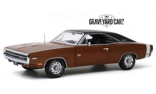 Dodge Charger 1/18 Greenlight R/T metallise brown/matt-black Graveyard Carz 1970 diecast model cars