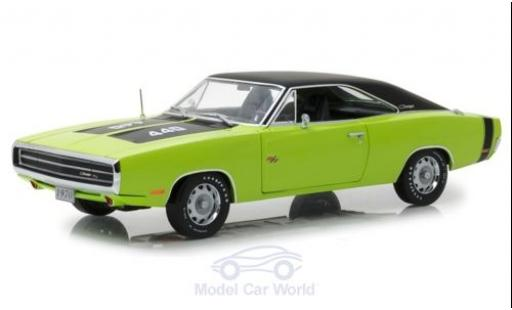 Dodge Charger 1970 1/18 Greenlight R/T SE verte/noire miniature