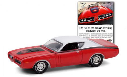 Dodge Charger 1/64 Greenlight Super Bee red/white 1971 diecast model cars
