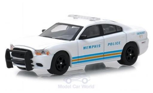 Dodge Charger 1/64 Greenlight blanco Memphis Police 2011 Pursuit miniatura