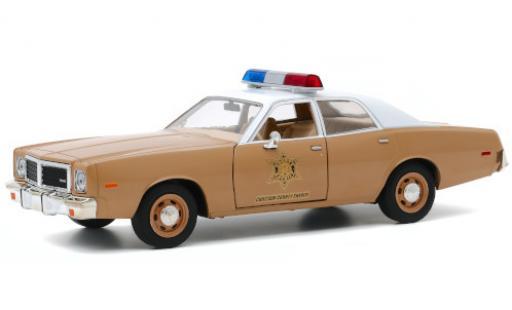Dodge Coronet 1/24 Greenlight Choctaw County Sheriff 1975 diecast model cars
