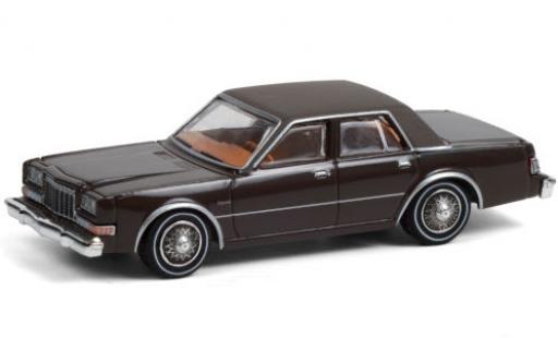 Dodge Diplomat 1/64 Greenlight marron/matt-grise Los Angeles County Sheriff 1982 Beverly Hills Cop II miniature