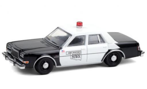 Dodge Diplomat 1/64 Greenlight Oklahoma Highway Patrol 1985 diecast model cars