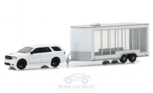 Dodge Durango 1/64 Greenlight blanche 2018 mit Transportanhänger miniature