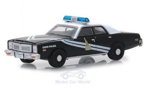 Dodge Monaco 1/64 Greenlight black/white Idaho State Police 1978 diecast