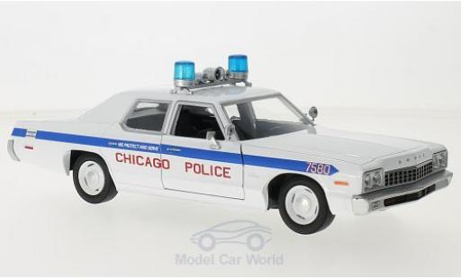 Dodge Monaco 1/24 Greenlight blanche/bleue Blues Brougehers Chicago Police 1975 miniature