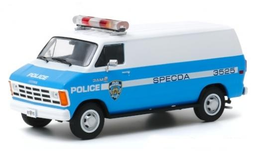 Dodge RAM 1/43 Greenlight B 150 NYPD - New York City Police Department 1987 miniature