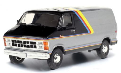Dodge RAM 1/43 Greenlight B250 Street Van grey/black 1980 avec Décorer diecast model cars