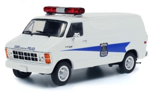 Dodge RAM 1/43 Greenlight B250 Van Indiana State Police 1980 miniature