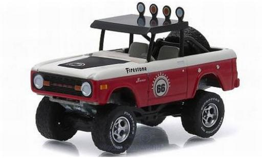 Ford Bronco 1/64 Greenlight Baja rouge/blanche No.66 1966 All-Terrain Series 2 miniature