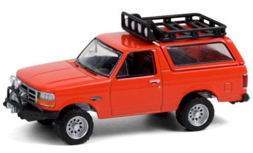 Ford Bronco 1/64 Greenlight naranja 1995 Dach abnehmbar coche miniatura