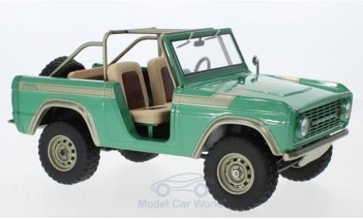 Ford Bronco 1/18 Greenlight verte/beige 1976 Gas Monkey Garage miniature