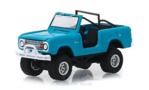 Ford Bronco 1/64 Greenlight bleue 1967 miniature