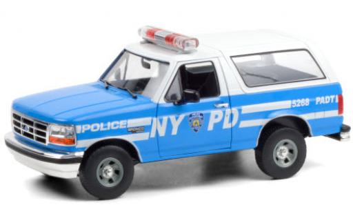 Ford Bronco 1/18 Greenlight NYPD - New York City Police Department 1992 diecast model cars