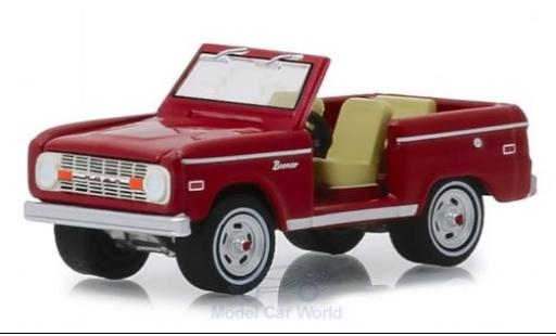 Ford Bronco 1/64 Greenlight rouge Elvis Presley miniature