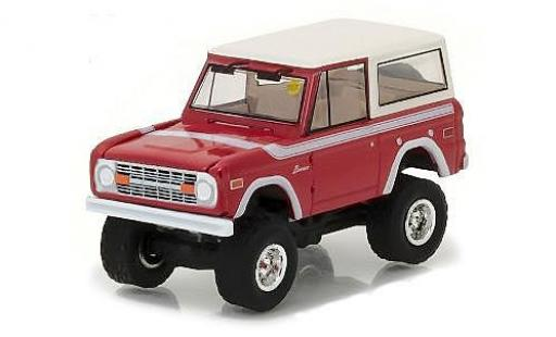 Ford Bronco 1/64 Greenlight rouge/blanche 1975 miniature