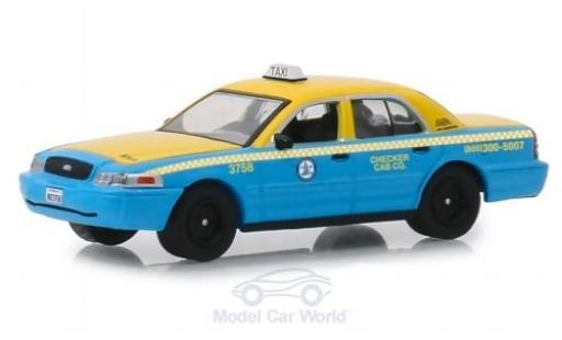 Ford Crown 1/64 Greenlight Victoria jaune/bleue L.A. Checker Cab 2011 miniature