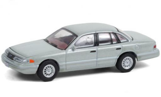 Ford Crown 1/64 Greenlight Victoria metallise grise 1993 The X-Files miniature