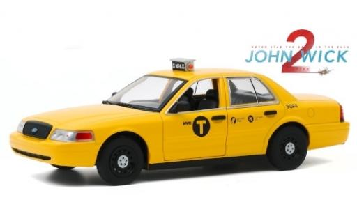 Ford Crown 1/24 Greenlight Victoria NYC Taxi 2008 John Wick - Chapter 2 modellino in miniatura