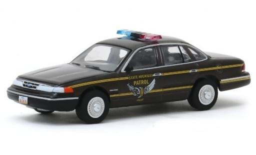 Ford Crown 1/64 Greenlight Victoria Ohio State Highway Patrol 1995 miniatura