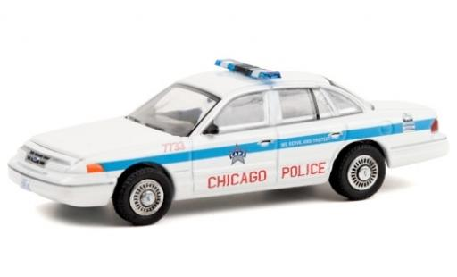Ford Crown 1/64 Greenlight Victoria Police Interceptor Chicago Police Department 1995 miniature