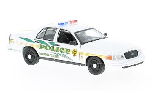 Ford Crown 1/43 Greenlight Victoria Police Interceptor CSI: Miami 2003 coche miniatura
