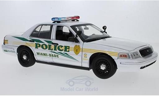 Ford Crown 1/18 Greenlight Victoria Police Interceptor CSI: Miami (TV Serie) 2003 miniature