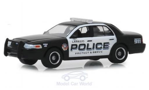 Ford Crown 1/64 Greenlight Victoria Police Interceptor Laredo Police 2010 miniatura